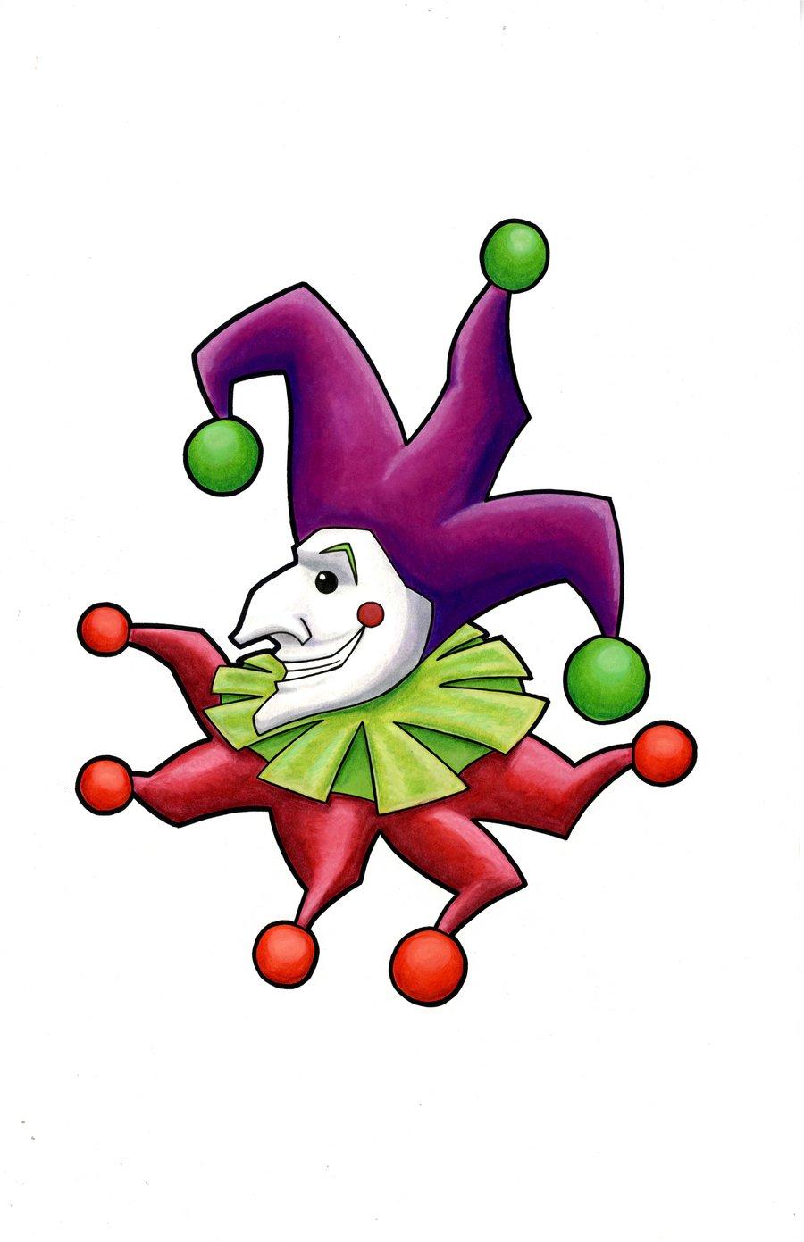Cartoon Joker Card