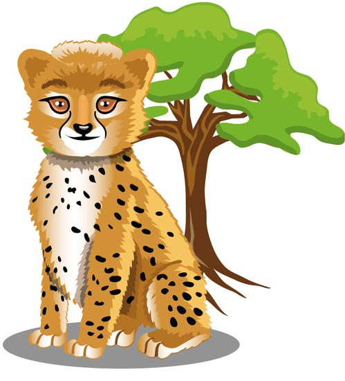 14 Safari Animals Vector Images