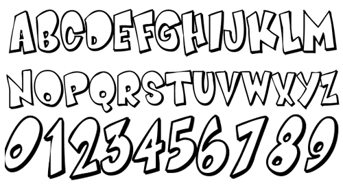 Cartoon Letters Font Styles