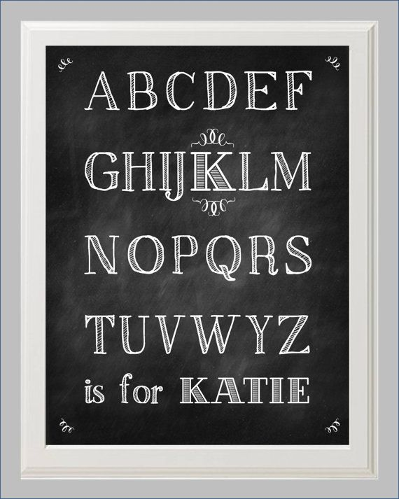 Chalkboard Font Alphabet