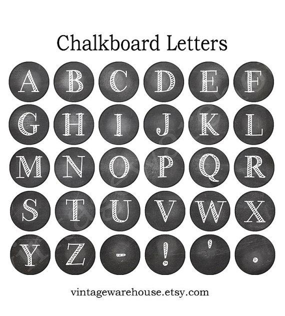 Chalkboard Letters Printable