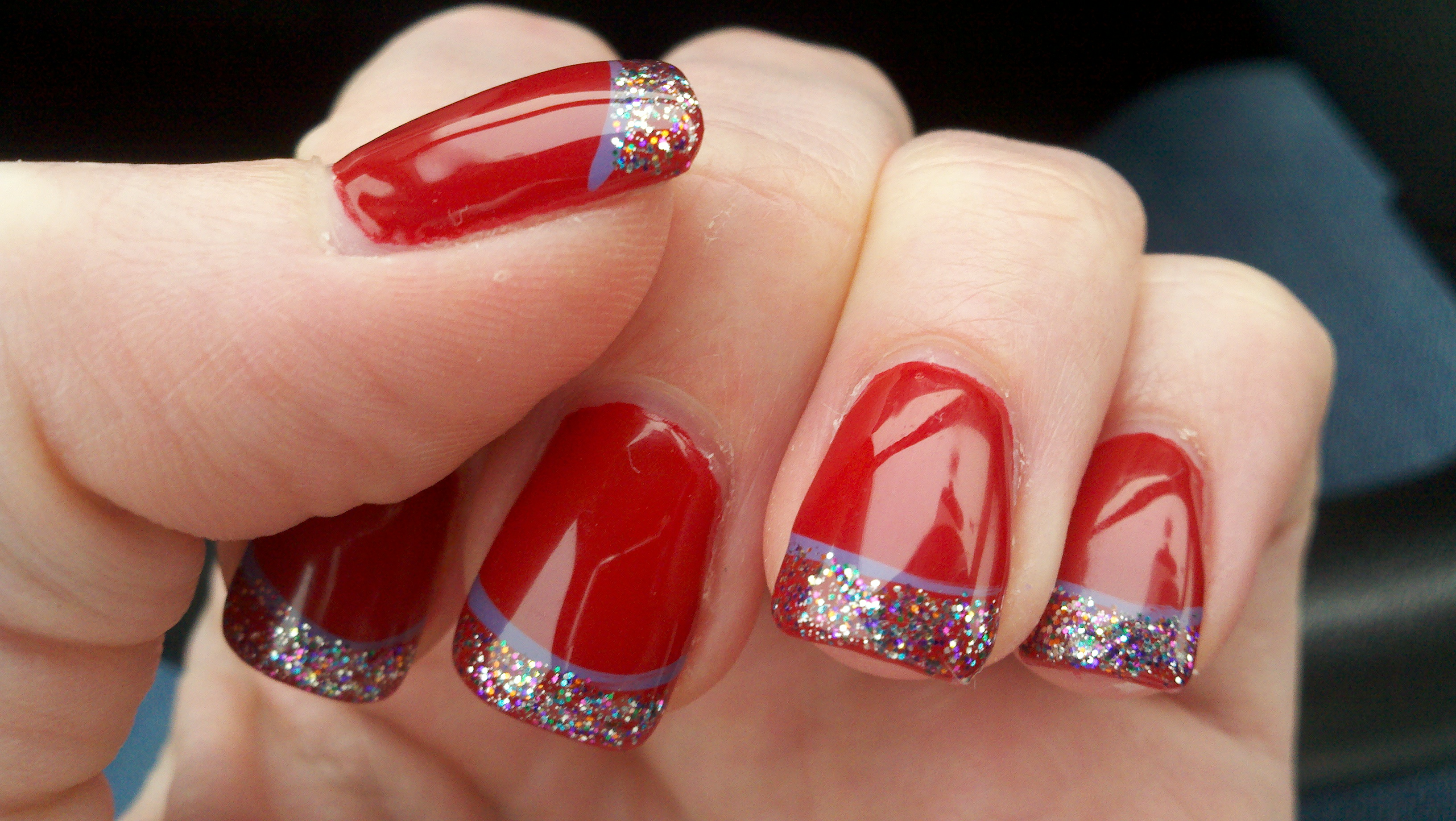14 Red Christmas Nail Art Designs Images