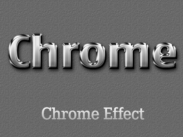 Chrome Text Effect Photoshop
