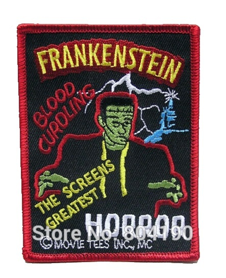 Classic Horror Movie Patches Poster