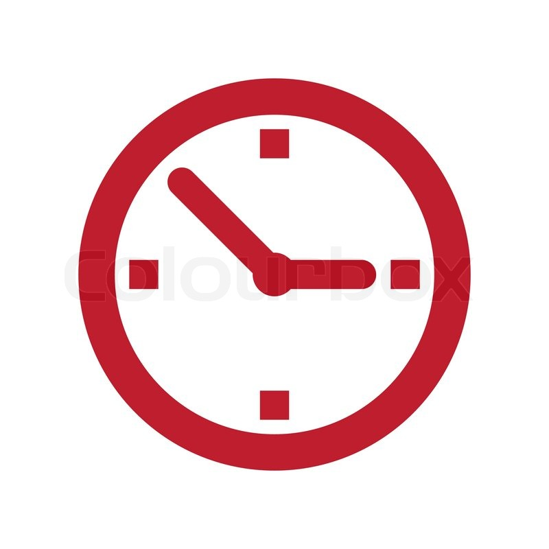 11 Red Clock Icon Images