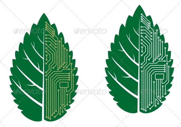 8 Computer Leaf Icons Images