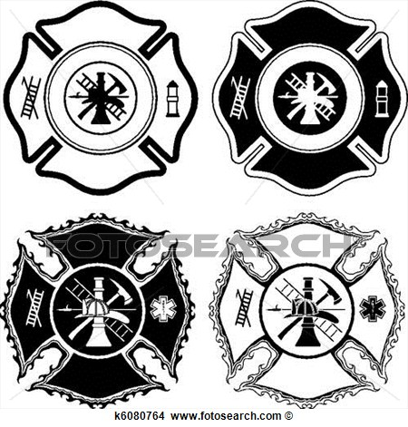 Cross Firefighter Vector Art