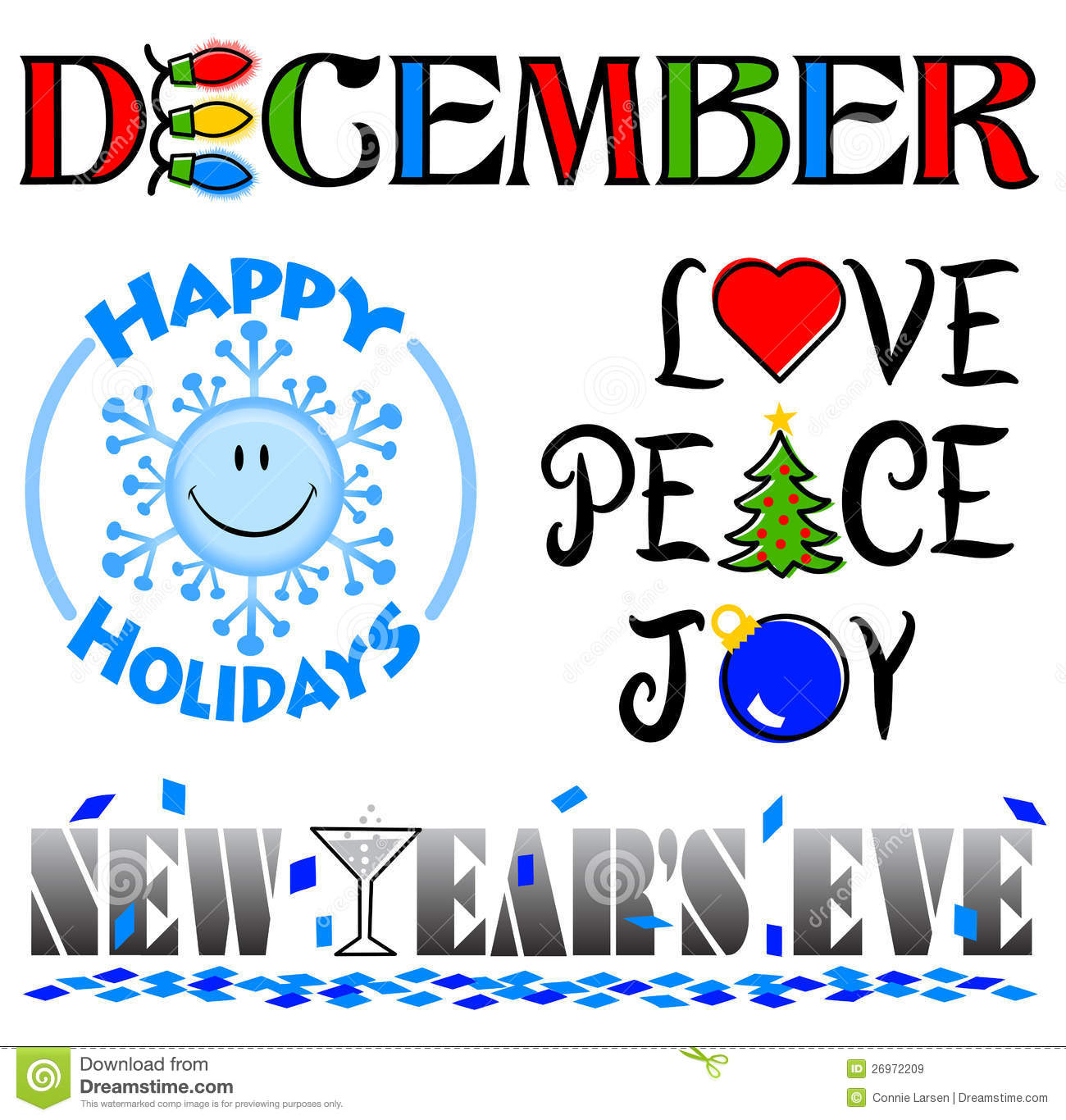 December word art