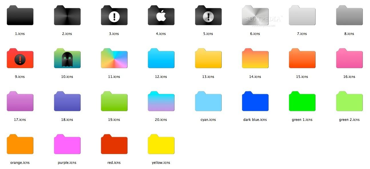 14 Folders Icon Pack Mac Images - Windows 7 Folder Icons