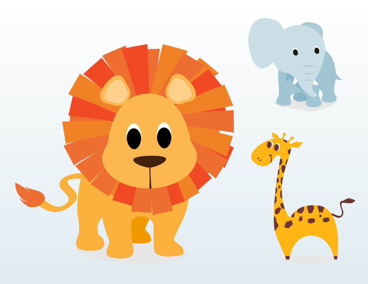 Free Baby Animal Cartoon Clip Art