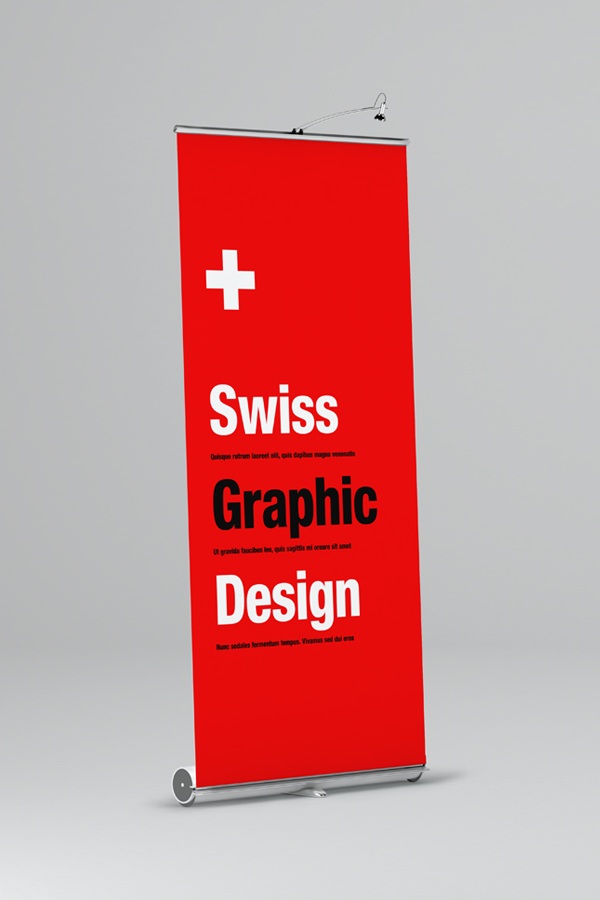 Free Banner Roll Up Mockup