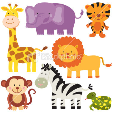 Free Cartoon Safari Animals