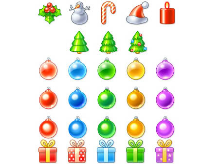5 Christmas Icons Free Download Images