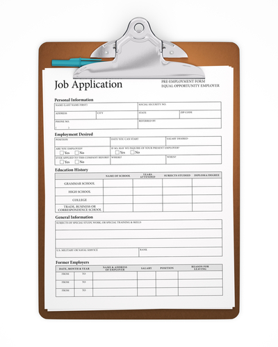 Free Employment Application Forms