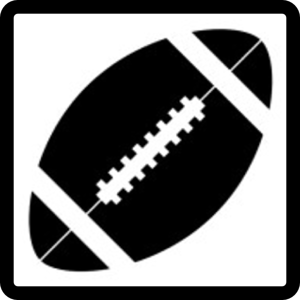 Free Football Clip Art Black and White