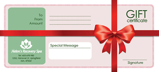 8 Gift Certificate PSD Images