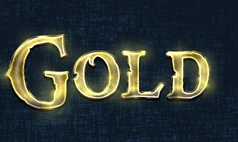 Free Gold Text Effect PSD