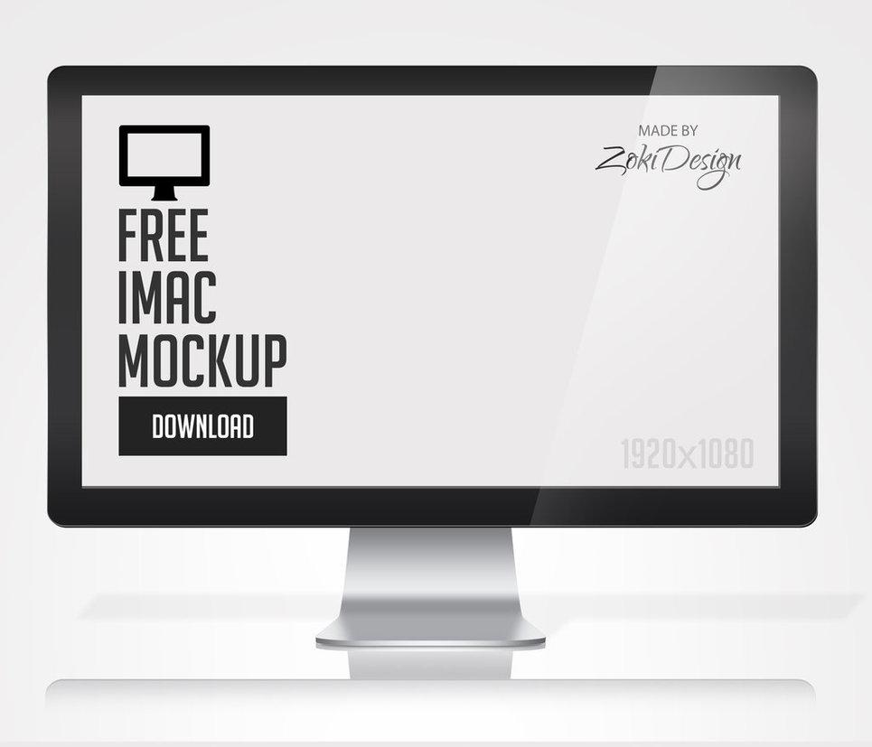 Free iMac Mockup Template