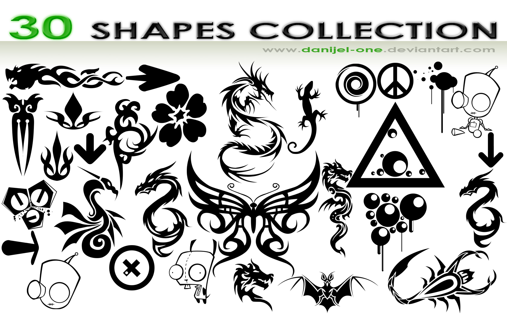 10 Free Shapes For Photoshop CS5 Images