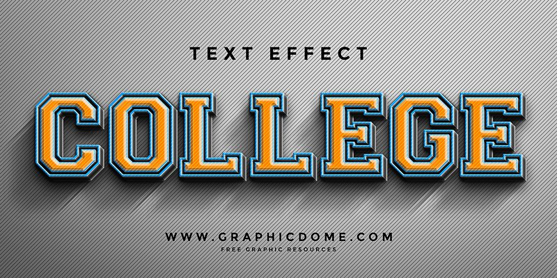 Free Photoshop Text Effects PSD