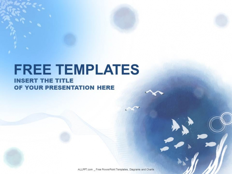 Free PowerPoint Templates Water