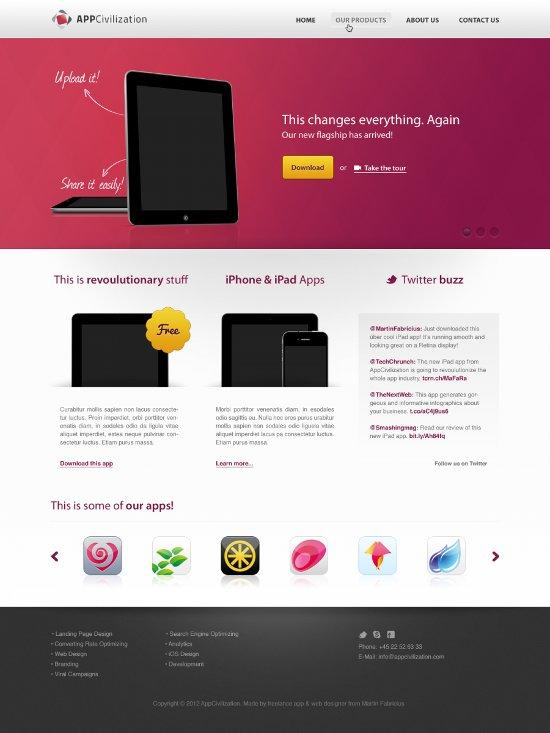 Free PSD Web Design Templates
