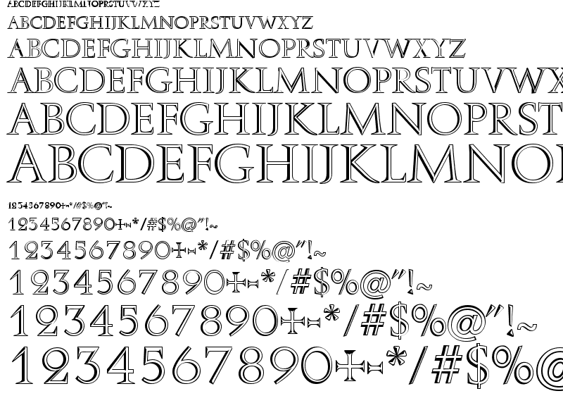 15 Roman At Font Images - Ancient Roman Font Styles, 3D