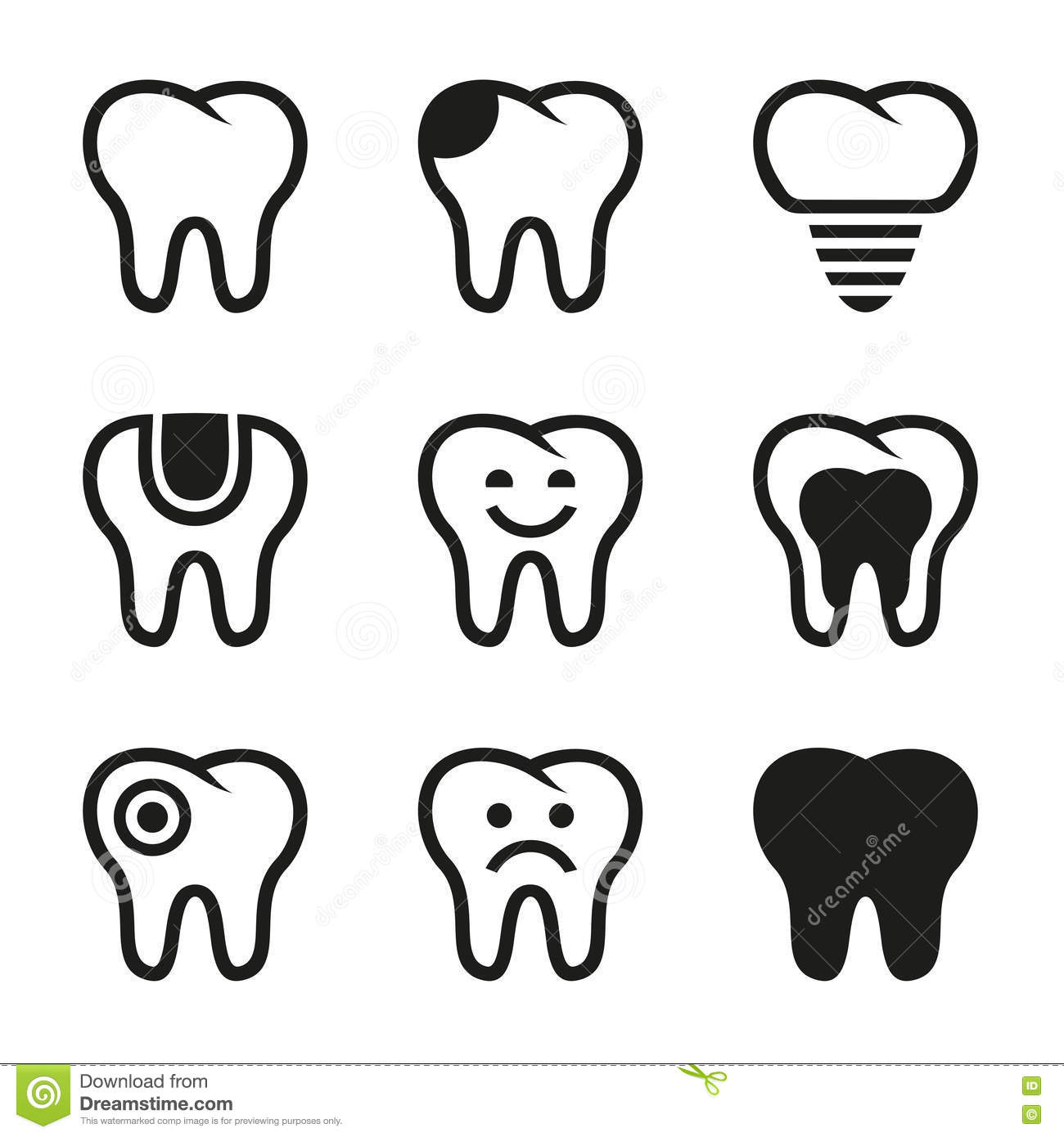 Free Tooth Vector Icon