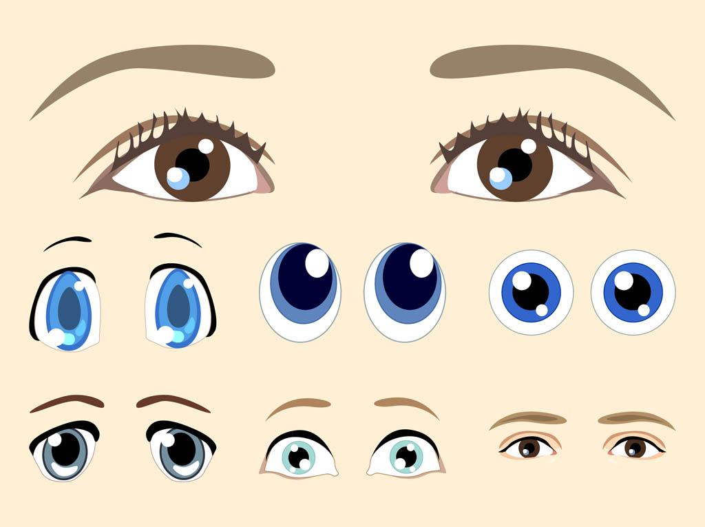 Free Vector Cartoon Eyes