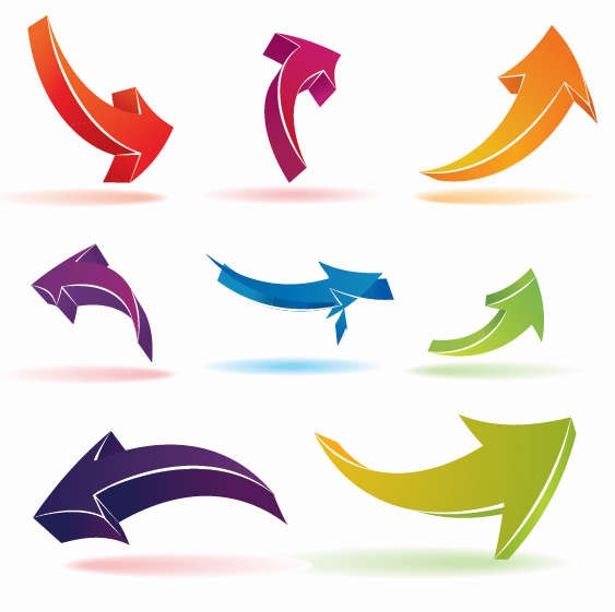 12 Free Vector Arrows Images