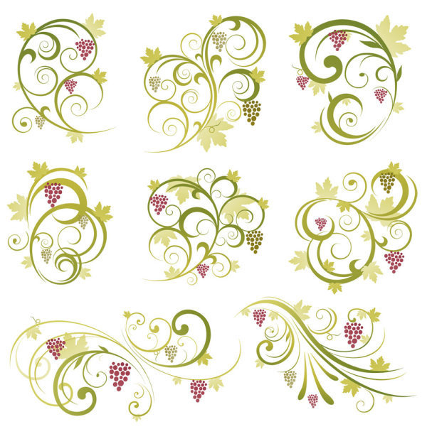 16 Vine Vector Free Download Images - Grape Vine Vector ...