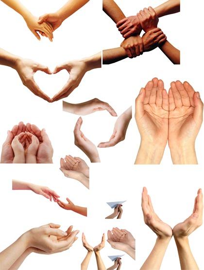 17 Hand Art PSD Images
