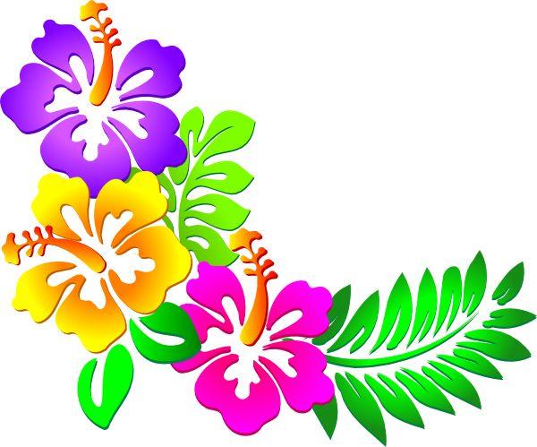 Hawaiian Flower Border Clip Art