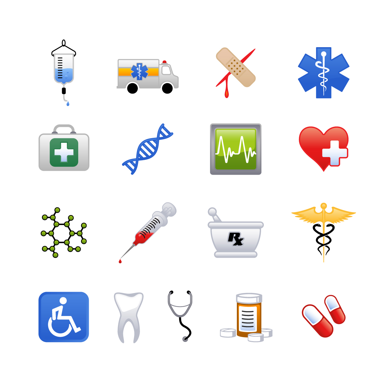 7 Medical Icons Vector Free Images