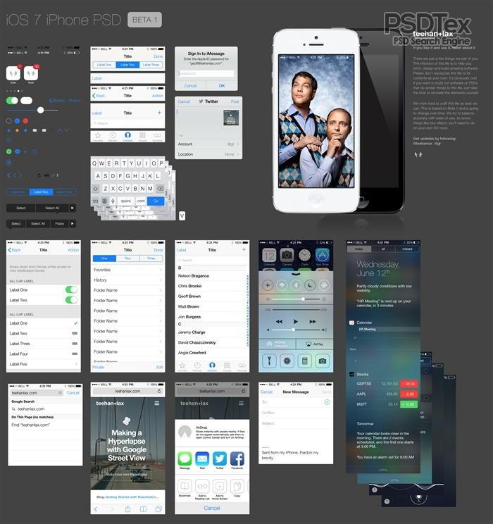 iPhone GUI PSD Design Template