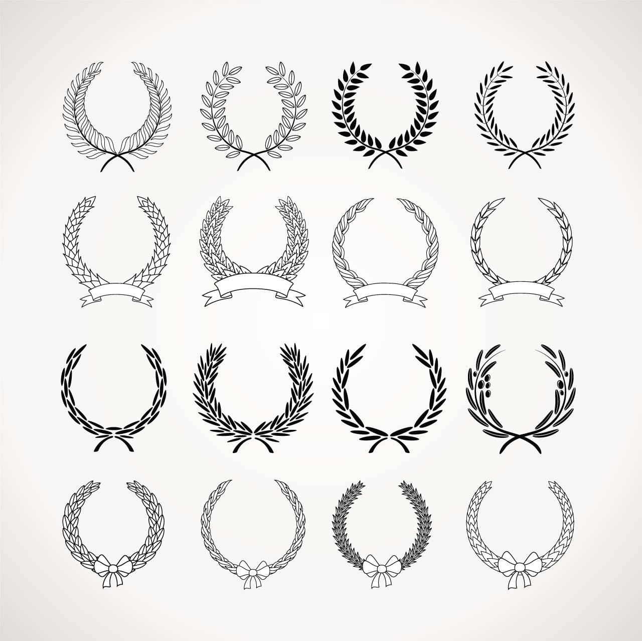 Laurel Wreath Vectors Free