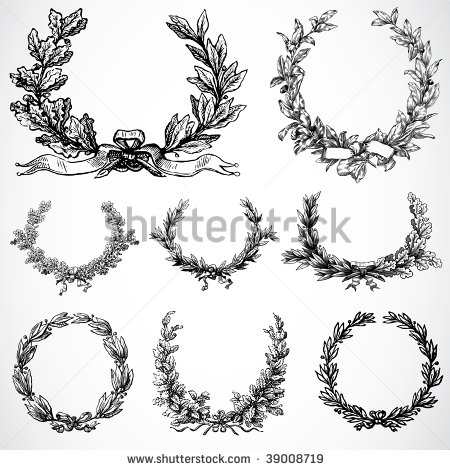 Leaf Wreath Clip Art