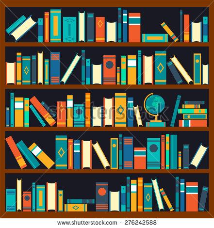 Library Book Shelves Clip Art