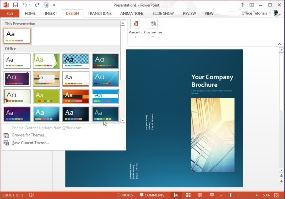 Microsoft PowerPoint Brochure Templates Free