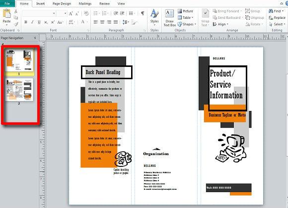 Brochure Templates Microsoft Publisher. free brochure template ...