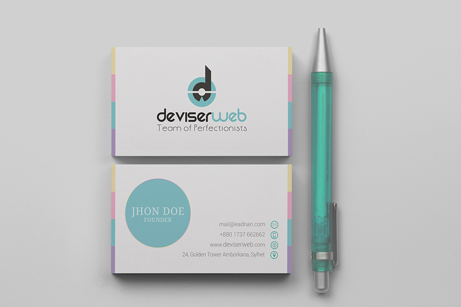 Modern Business Card PSD Template Free