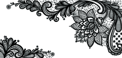 17 Black Lace Vector Free Images