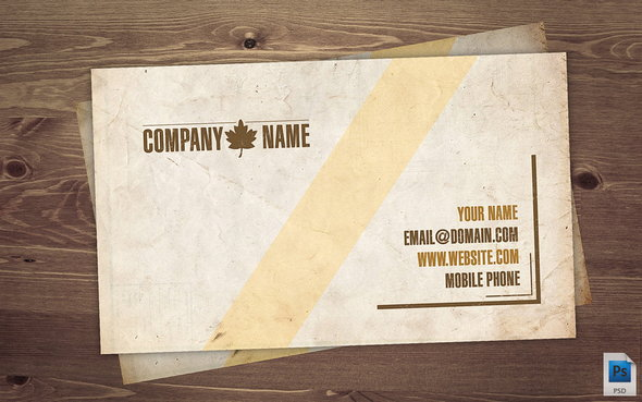 7 Vintage Business Card PSD Images