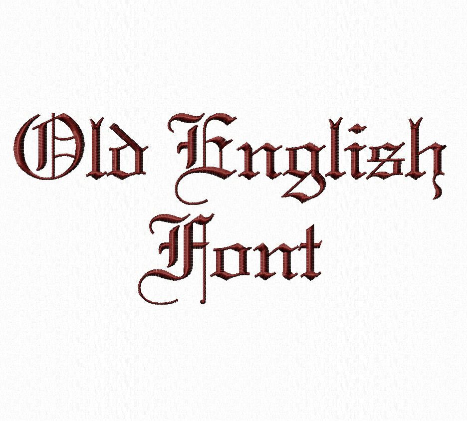 12 Old English Machine Embroidery Font Images