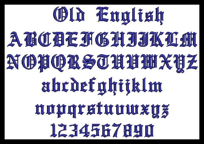 10 Graffiti Old English Font Images - Old English Tattoo Fonts, Old