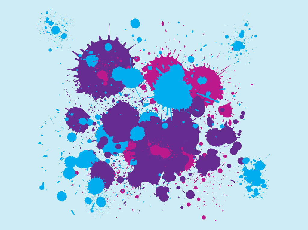 Paint Splatter Vector Free