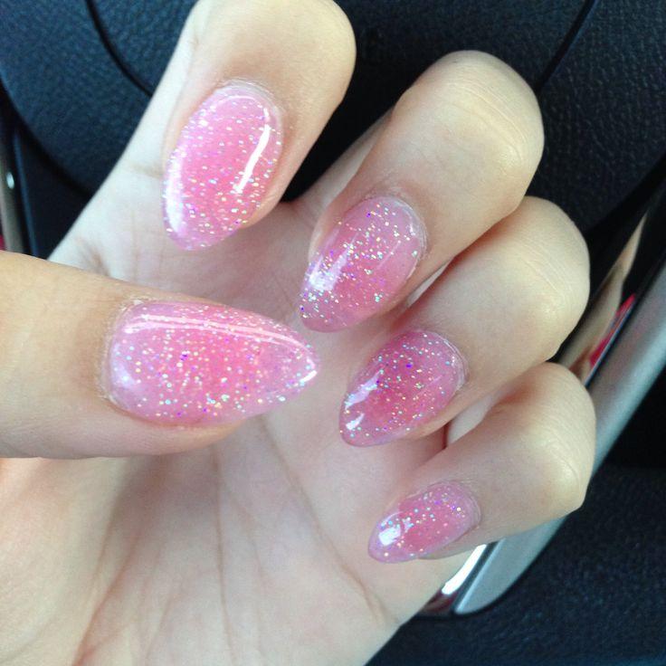 12 Pink Pointy Nail Designs Images - Kardashian Stiletto Nails, Pink ...