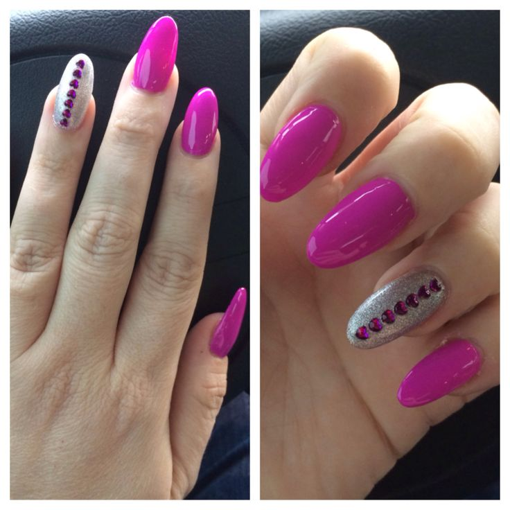 14 Pointy Nail Designs Images - Simple Pointy Nail Design, Long ...