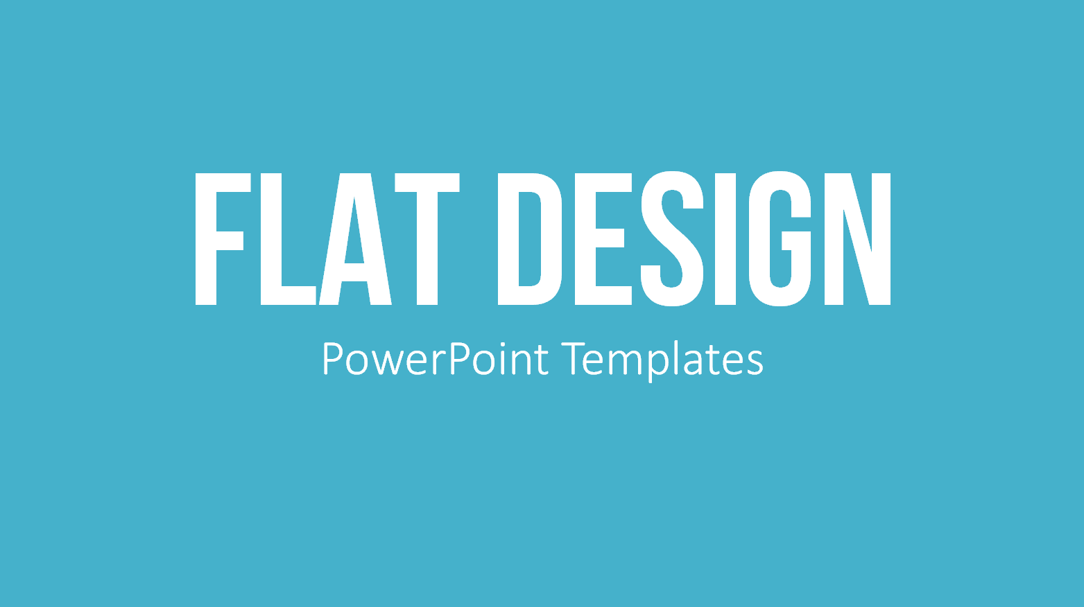 PowerPoint Templates Flat Design