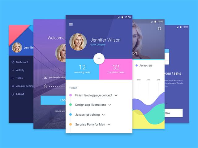 PSD App Design Material